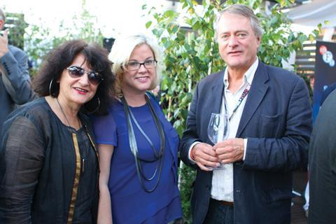 Bonnie Voland from IM Global with Wendy Mitchell, Editor of Screen International and James Atherton from Quickfire